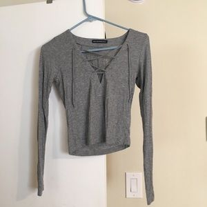 Gray lace top!
